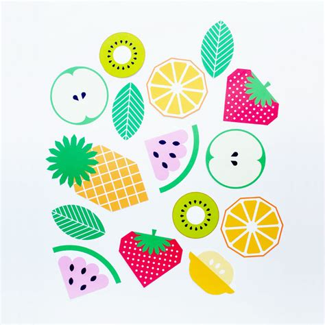 guirlande lumineuse deco chambre dessin de fruit a imprimer