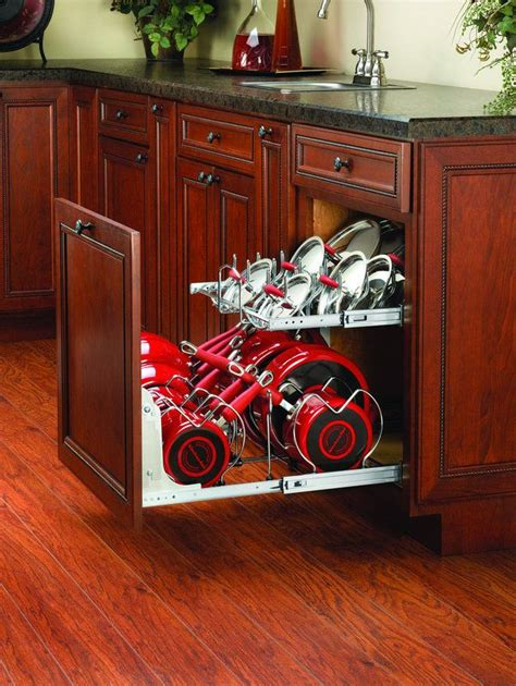 shelf rev kitchen storage pans pots cabinet drawer organizers organizer organization cookware build pullout lids tier 2122 pan diy rack