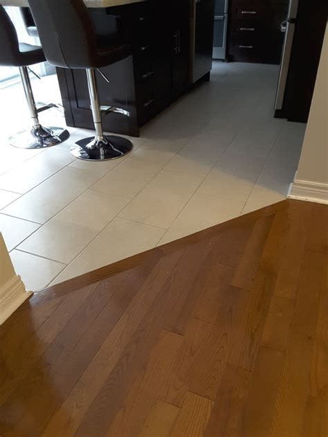 Should tile floor in kitchen match tile floor in front