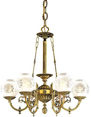 english victorian  light chandelier  etched glass shades house  antique hardware