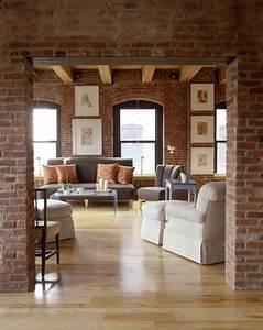 Mur Brique Salon : 12 salons modernes avec des murs en briques apparentes ~ Zukunftsfamilie.com Idées de Décoration