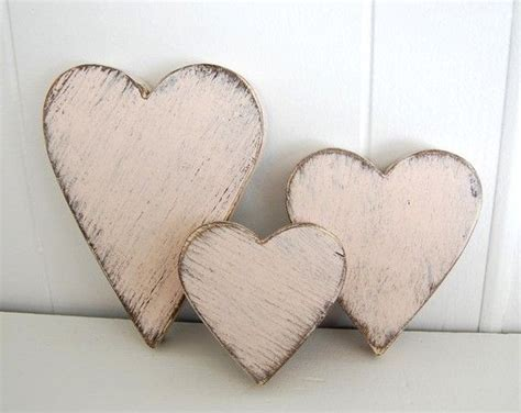 shabby chic wooden hearts wooden hearts shabby chic pink cottage decor style wedding decor your