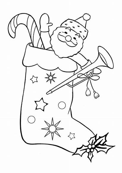 Christmas Coloring Pages Stocking Things Colouring Santa