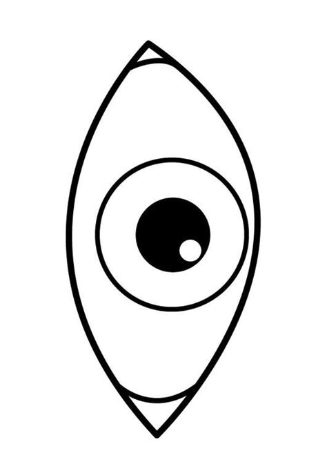 eye template eye pages printable coloring pages