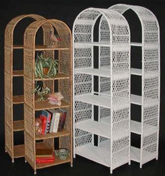 Wicker Etagere by Wicker Bookcase Wicker Etagere Bakers Rack