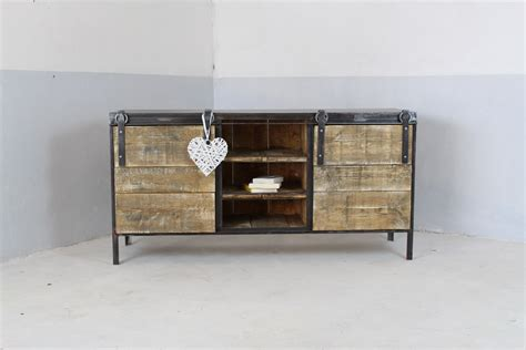 meuble cuisine industriel meuble buffet enfilade industriel loft industeel