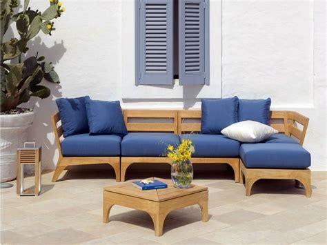 canapé en teck aménagement extérieur jardin et terrasse mobilier en teck