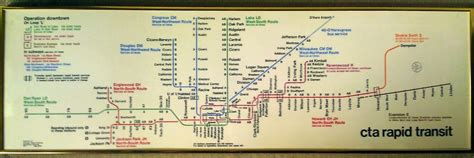 Best Gift For A Transit Geek? Classic Cta Rail Map
