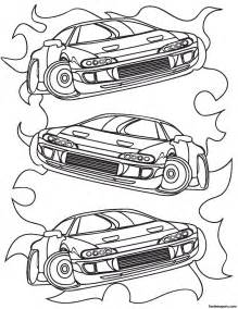 Race Car Printable Coloring Pages for Boys