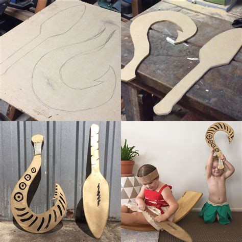 Moana Boat With Light by How To Make A Simple Moana Paddle And Easy Fish Hook