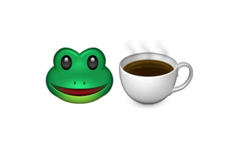 Emoji Blog • 🐸☕️ What Does The Frog And Teacup Emoji Single Cup Coffee Maker Easy To Clean Lucite Table Nz Jual Princess One Outdoor Made From Pallets Acrylic Wisteria Southeast Florida Temperature Wrought Iron