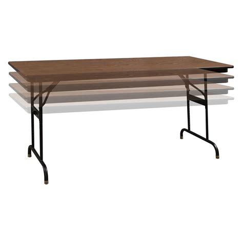 using a table as a desk ki heritage adjustable height used folding table 30 72