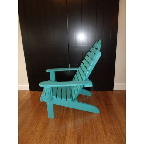 poly fish adirondack chair with fish side table