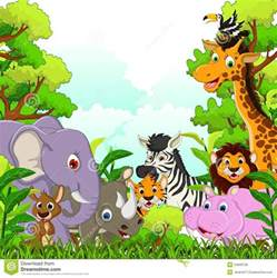 Cartoon Forest with Animals