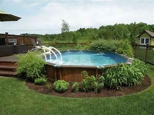 comment amenager autour une piscine hors sol With amenagement autour piscine hors sol