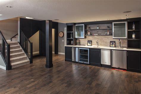 Bar Renovation Ideas by The Non Basement Basement Renovation Contemporary Home
