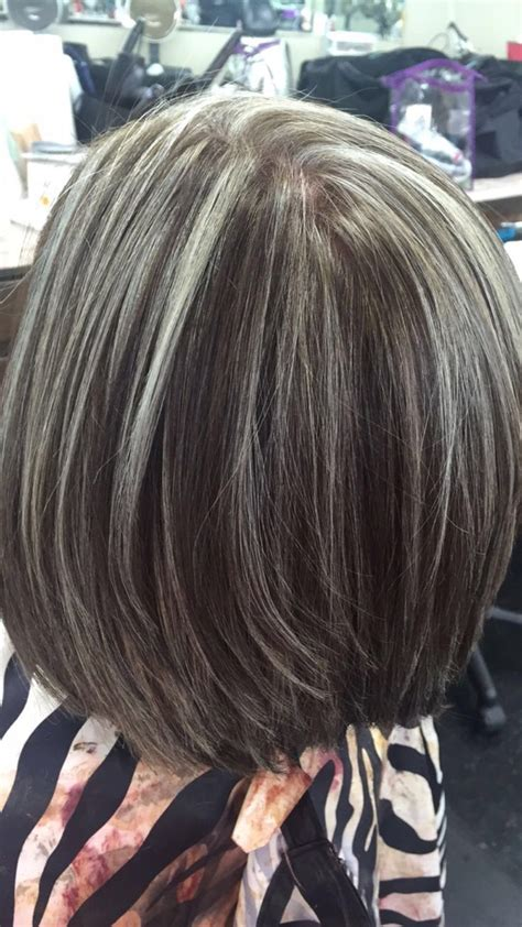 streaks  hair ideas  pinterest grey