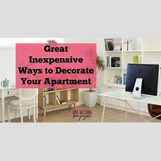 Great Inexpensive Ways To Decorate Your Apartment Miss