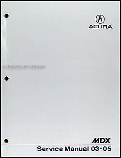 auto repair manual online 2003 acura mdx instrument cluster 2003 2005 acura mdx repair shop manual original