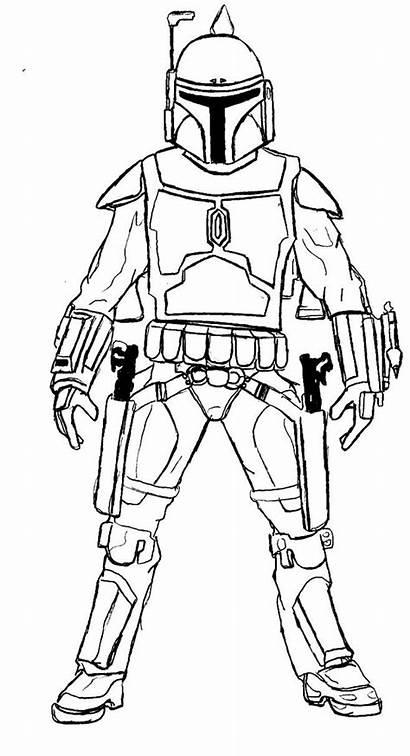 Coloring Pages Mandalorian Wars Star Fett Boba