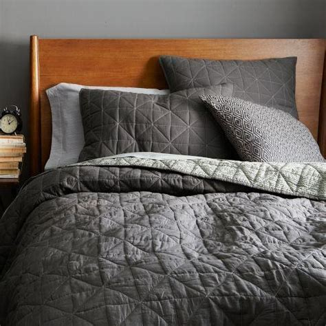 Contemporary Quilts And Coverlets by Nomad Coverlet Shams Slate West Elm