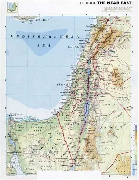 maps  israel detailed map  israel  english