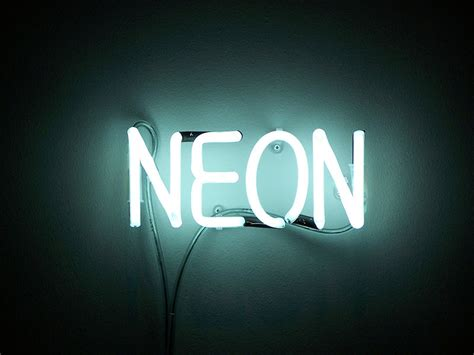 interactive image neon chemistry element project