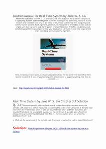 Solution Manual Real Time System Bt Jane W S Liu Solution