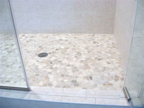 Mosaic Tile Shower Floor - bathroom cozy pebble floor tile for unique shower room