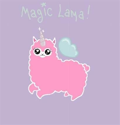 Llama Pink Gifs Lama Unicorns Flying Kawaii