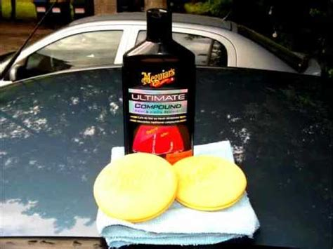 meguiars ultimate compound meguiar s ultimate compound results on my 03 fiat punto