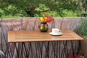 Tisch Für Balkongeländer : balkon klapptische bambus rechteckig in verschiedenen abmessungen bei westfalia versand ~ Whattoseeinmadrid.com Haus und Dekorationen