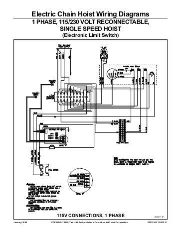 Chain Schematic Wiring manual for loadmate hoist wiring diagrams for crane