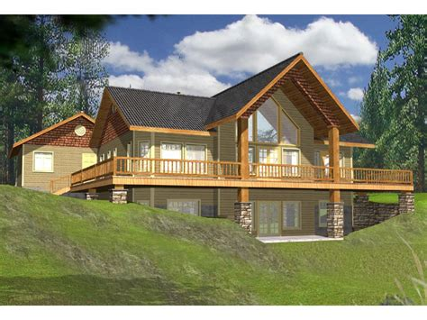 cabin plans with porch lake house plans with rear view wrap around lakefront