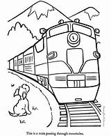 Coloring Pages Trains Train Printable Colors Colored sketch template