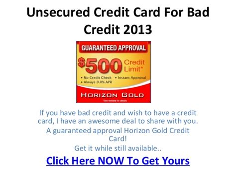 Just because you have bad credit doesn't mean you don't deserve rewards. Unsecured Credit Card For Bad Credit 2013