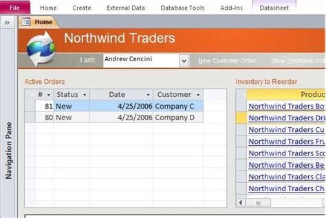 Database Template Access by Northwind Microsoft Access Templates And Access