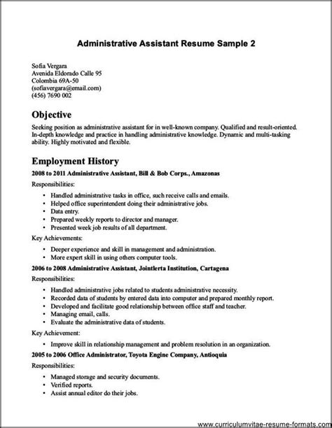 office assistant resume free sles exles