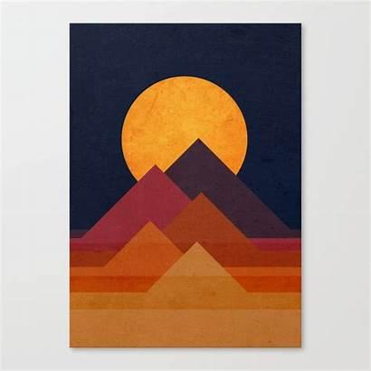 Canvas Moon Pyramid Society6