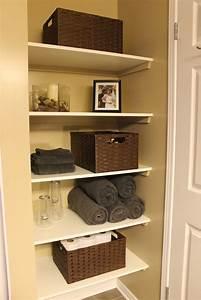 Km, Decor, Diy, Organizing, Open, Shelving, In, A, Bathroom