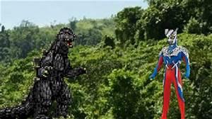 Godzilla vs Ultraman Zero by SilverTrunks06 on DeviantArt