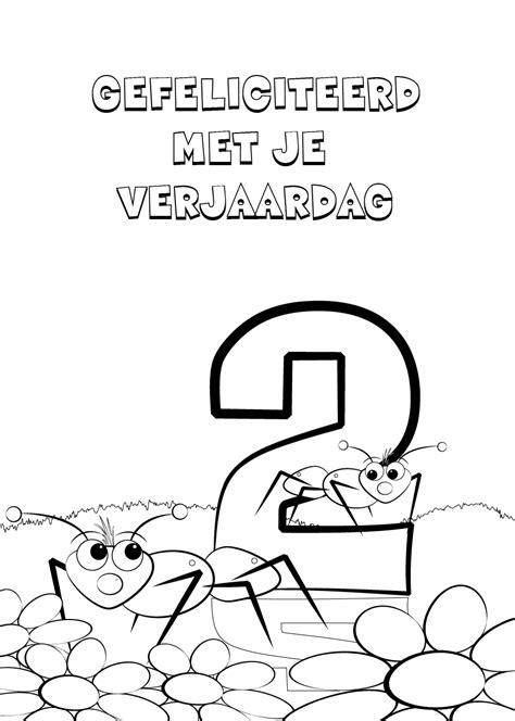 5 Jaar Samen Met Vriend Kleurplaat by 44 Kleurplaten Verjaardag O A Voor Papa Opa En Oma