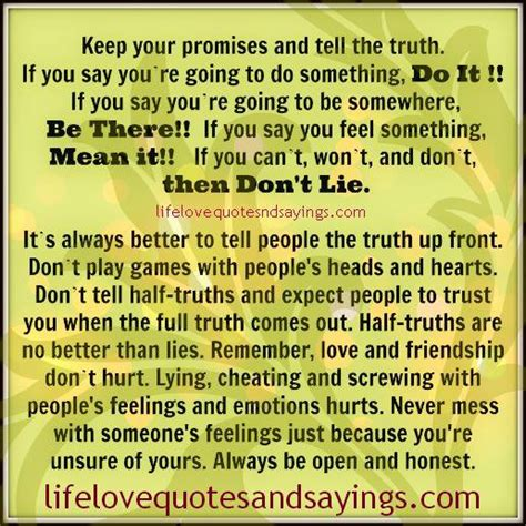 What To Do If You Lie On Your Resume by Keeping Promise Quotes Quotesgram