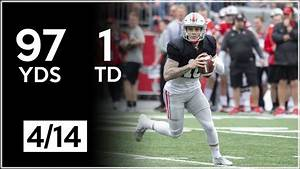 Tate Martell Ohio State Spring Game Highlights 97 Yards