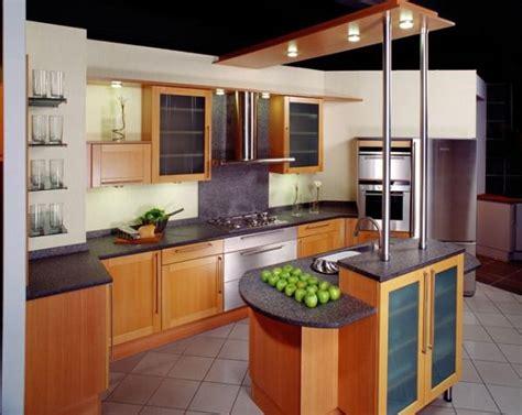 ilot bois cuisine cuisine en bois avec ilot photo 12 20 cuisine en bois