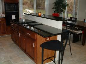 Kitchen Island with Bar Top