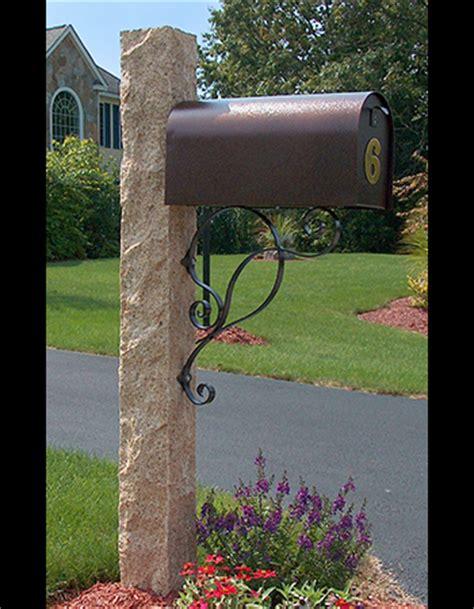 granite mailbox post golden wheat westwood mills