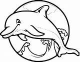 Dolphins Dolphin Coloring Raskrasil Perky Printable Water Looking sketch template