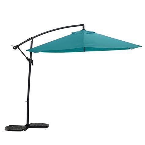 Malta 3.1 m Turquoise Overhanging parasol   Departments