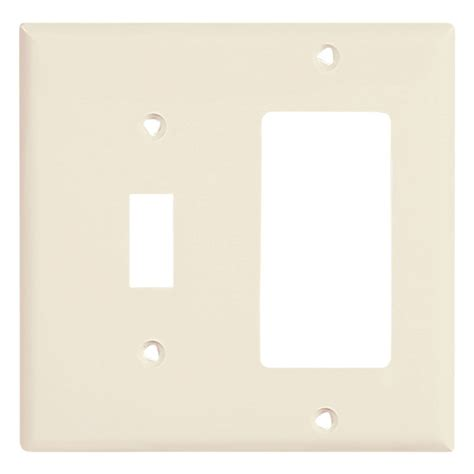 shop eaton 2 light almond wall plate at lowes